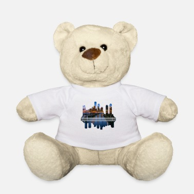 Megacity Megacity Skyline by Night - Teddy Bear
