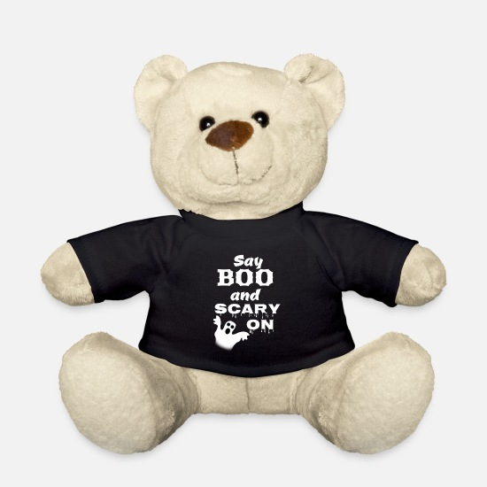 Gift Idea Teddy Bear Toys - Ghost Ghost Hour Halloween - Teddy Bear black