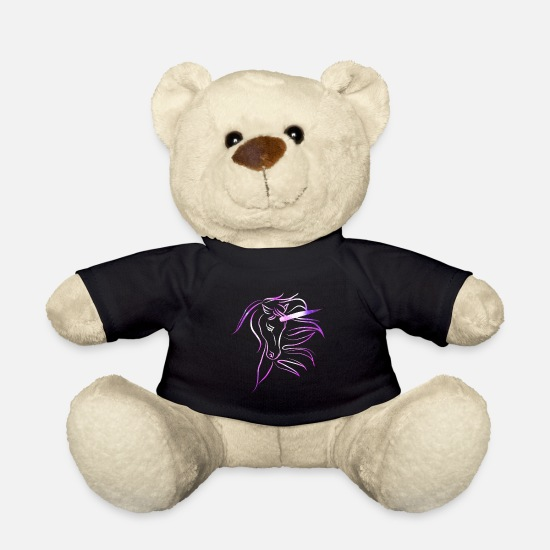 Gift Idea Teddy Bear Toys - mystical unicorn - Teddy Bear black