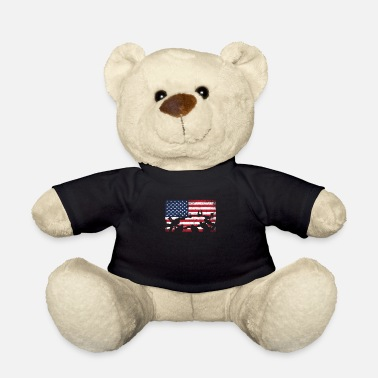 Sky Diving Skydive USA Flag Extreme Sports Skydiver - Teddy Bear