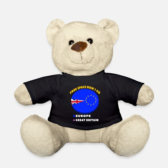 Eu Teddy Bear Toys - United Kingdom and Gibraltar European Union membership referendum - Teddy Bear black