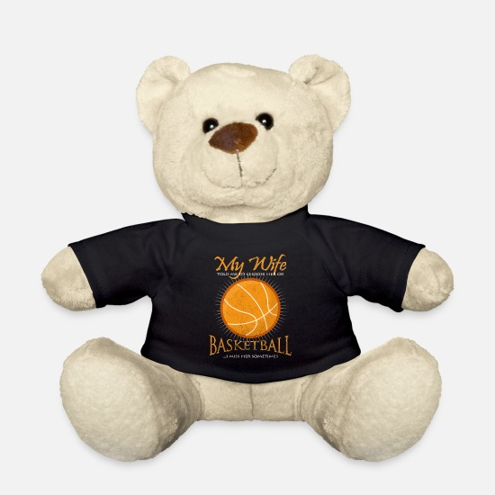 Gift Idea Teddy Bear Toys - Cool Basketball Funny Sayings B-Ball Gift - Teddy Bear black
