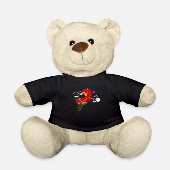 Sayings Teddy Bear Toys - Table tennis table tennis player - Teddy Bear black