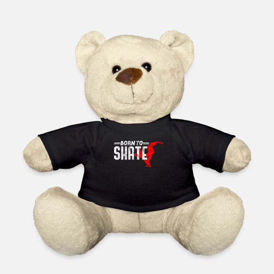 Gift Idea Teddy Bear Toys - Skateboard Skateboarder Tshirt - Teddy Bear black