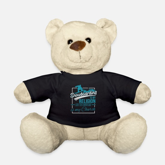 Gift Idea Teddy Bear Toys - Snowboarding snowboard winter vacation - Teddy Bear black