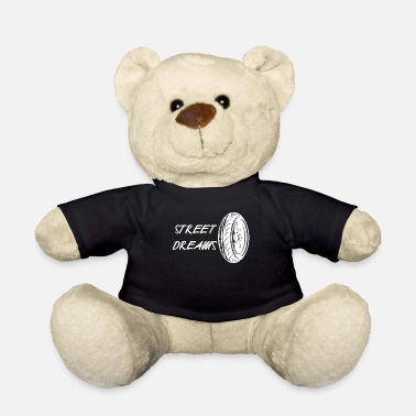 Sportscar Car tire motorcycle mechanic racing at full throttle - Teddy Bear