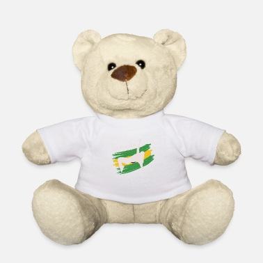 Dancing Capoeira Brazilian Flag Dancer Fighter Dance - Teddy Bear
