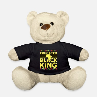 Afro African Design Educated Black King Birthday Gift - Teddy Bear