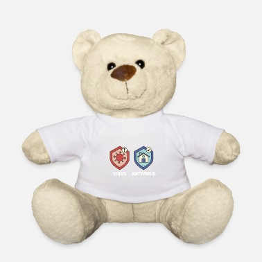 Challenging Virus - Antivirus. Just stay at home! Isolation. - Teddy Bear