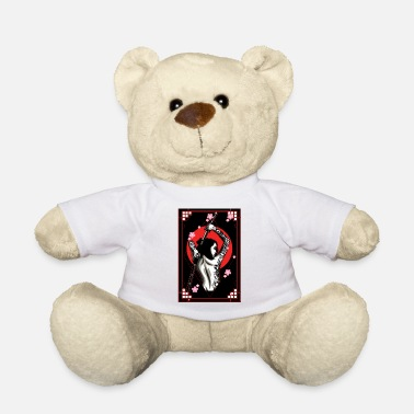 Branch Japanese demon skull face oni aesthetic t shirt - Teddy Bear