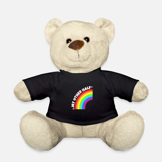 Gay Teddy Bear Toys - Gay Couple My Other Half Gift - Teddy Bear black