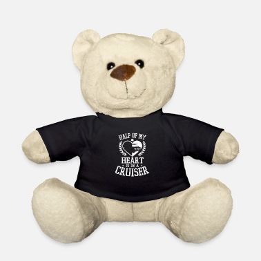 Cop Proud Police Wife Half Heart Is In A Cruiser Gift - Teddy Bear
