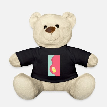 Birth Baby belly baby in the belly birth Pregnant gift - Teddy Bear