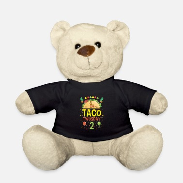 Fiesta Tacos Taco Twosday 2 Birthday Gift - Teddy Bear