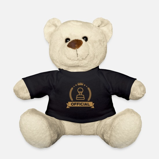 Country Teddy Bear Toys - Official Public Service Beamte Fonctionnaire - Teddy Bear black