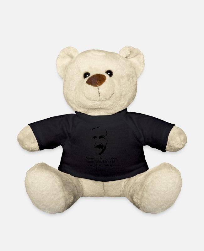 Wisdom Teddy Bear Toys - Branch: No one is gone, whom one loves. love is - Teddy Bear black