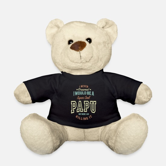 Father's Day Teddy Bear Toys - Super Cool Papu - Teddy Bear black