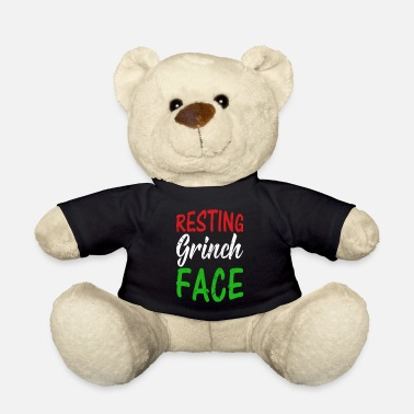 Father And Daughter Resting Grinch Face Funny Christmas Gift RBF - Teddy Bear
