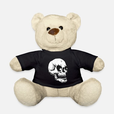 Casket Skull skeleton death tattoo skull grave gift - Teddy Bear