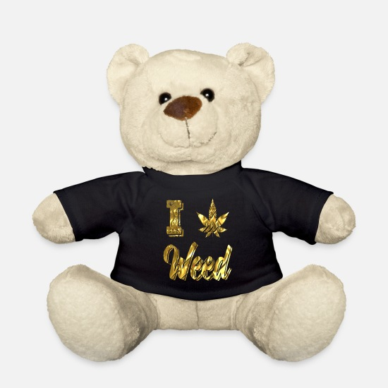 Rasta Teddy Bear Toys - Cannabis hemp hashish pothead - Teddy Bear black