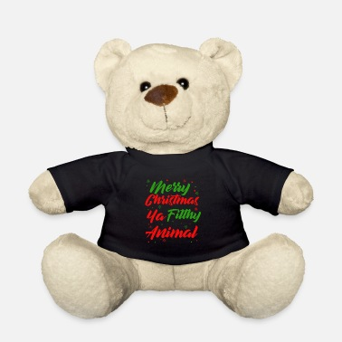 Dirty Sayings Christmas | Christmas saying dirty animal - Teddy Bear