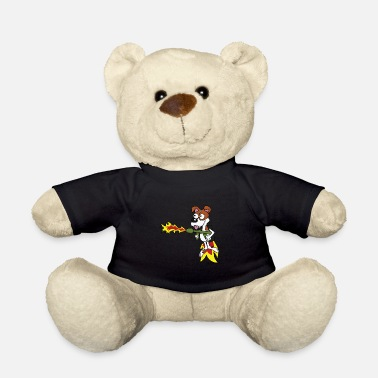 Jokes Dog Funny dog with jetpack and flamethrower tshirt - Teddy Bear