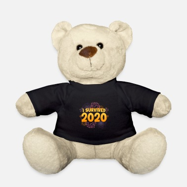 New Year's Eve I Survived 2020 Funny New Year 2021 Present - Teddy Bear