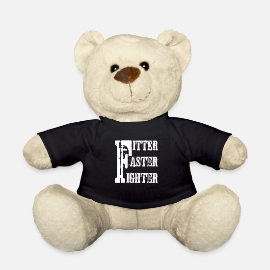 Runner Teddy Bear Toys - Exercise - Teddy Bear black