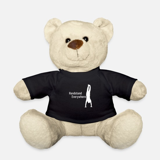 Gift Idea Teddy Bear Toys - Handstand Everywhere - Teddy Bear black