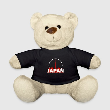 Japan city silhouette big city Tokyo gift - Teddy Bear