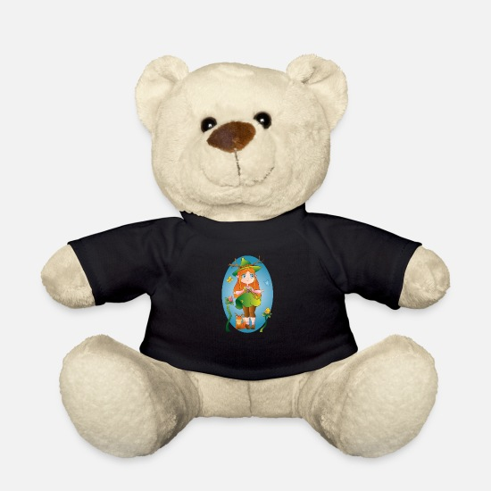 Green Teddy Bear Toys - Witch of nature - Teddy Bear black