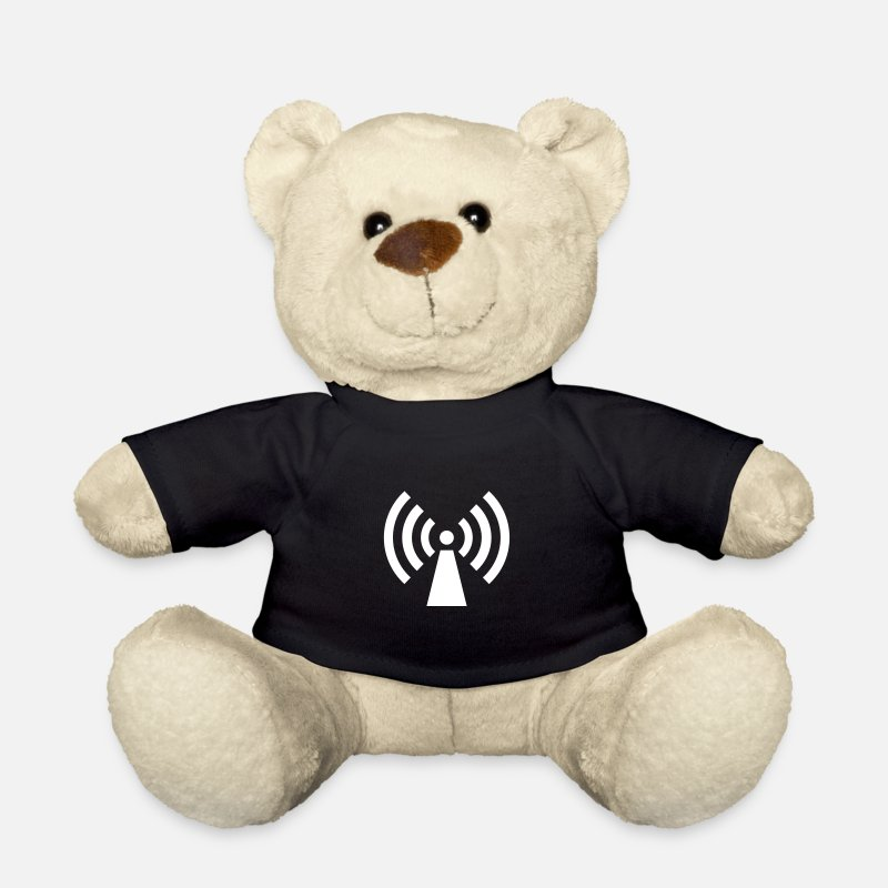 Geek Peluches - radio / wifi / wireless / signal  - Osito de peluche negro