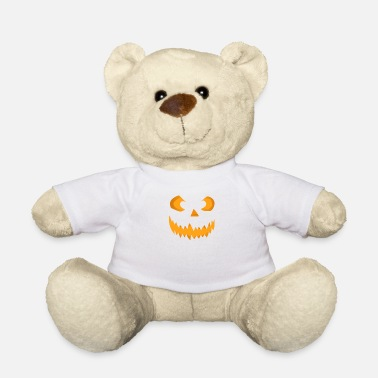 Scary Halloween pumpkin face - Teddy Bear