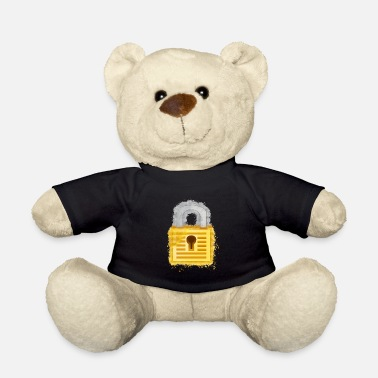 Padlock Padlock lock brightly glowing - Teddy Bear