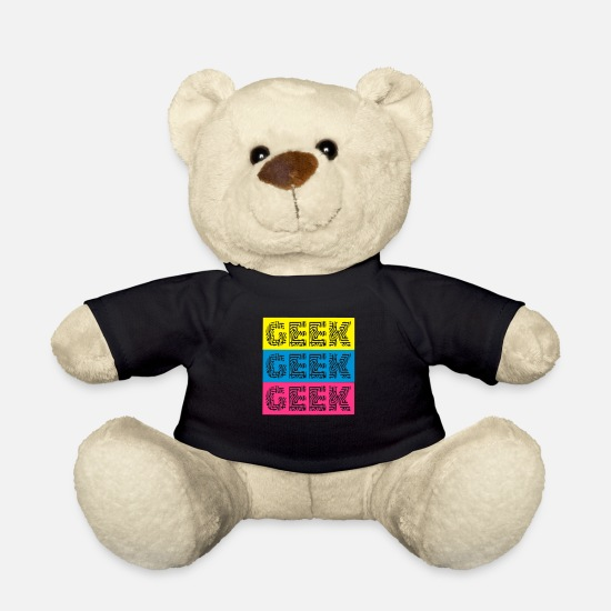 Geek Teddy Bear Toys - geek - Teddy Bear black