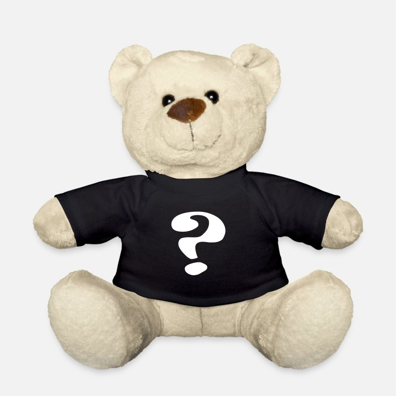 Question Mark Teddy Bear Toys - questionmark / Fragezeichen / point d'interrogation / ? - Teddy Bear black