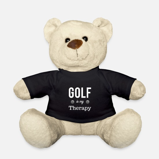 Birdie Knuffeldieren - Golf Is My Therapy Cool Cadeau Idee Sport - Teddybeer zwart