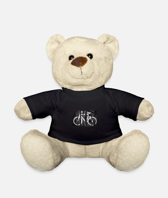 Road Bike Teddy Bear Toys - Biker - Teddy Bear black