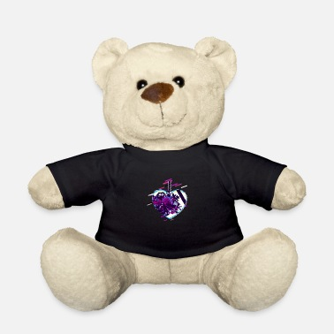 Abnormal Heart isolated 80's retro violet - Teddy Bear