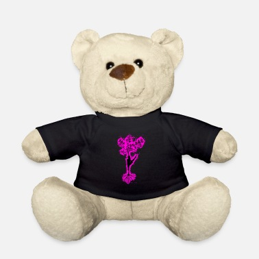 Silhouette tree pink and black outline - Teddy Bear