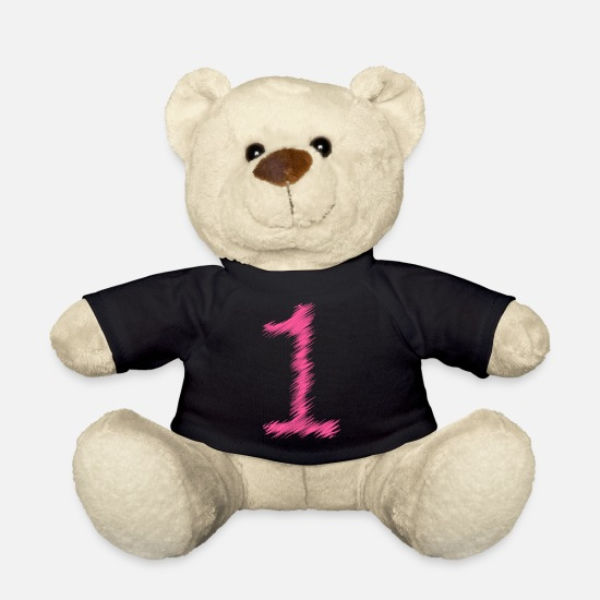 Number Teddy Bear Toys - Number number 1 hatching - Teddy Bear black
