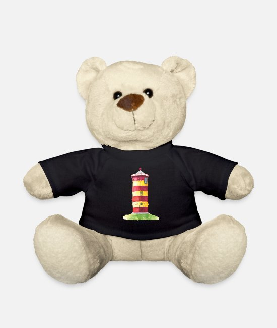 East Frisia Teddy Bear Toys - Pilsum lighthouse - Teddy Bear black