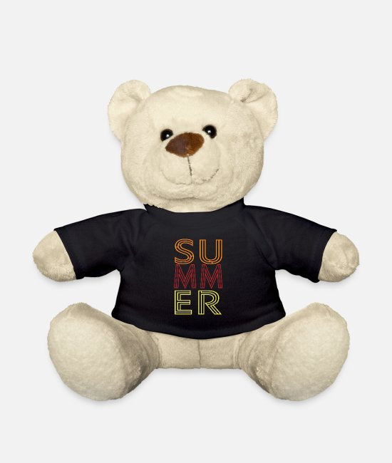 Beach Teddy Bear Toys - Summer shirt Summer Summer - Teddy Bear black
