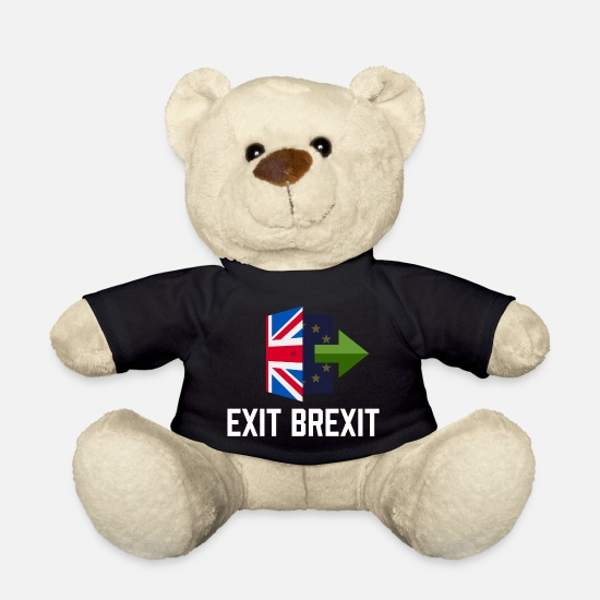 Politics Teddy Bear Toys - Exit Brexit - Teddy Bear black