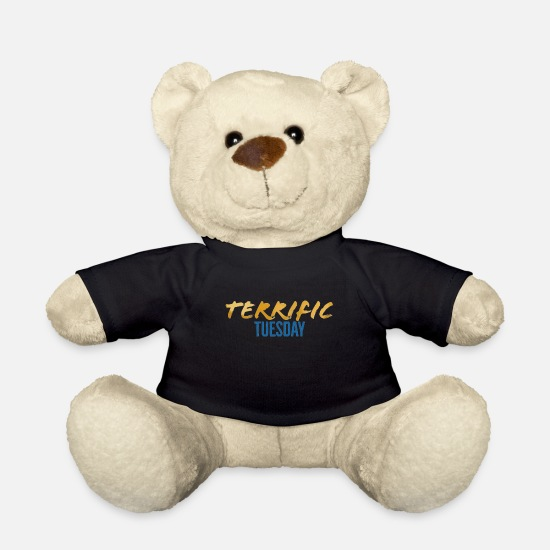 Saturday Teddy Bear Toys - Terrific Tuesday - The Week Days Collection - Teddy Bear black