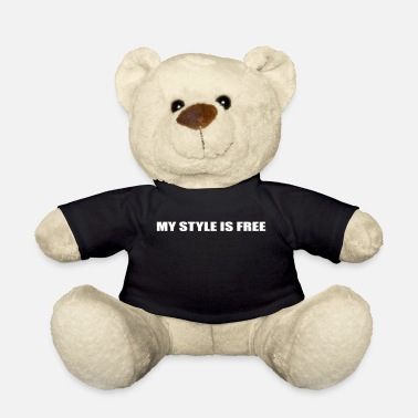 Life-style My Style Is Free - Freestyle Hip Hop Life blanco - Osito de peluche