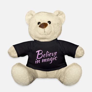 Lilac Believe in magic logo in lilac - Teddy Bear