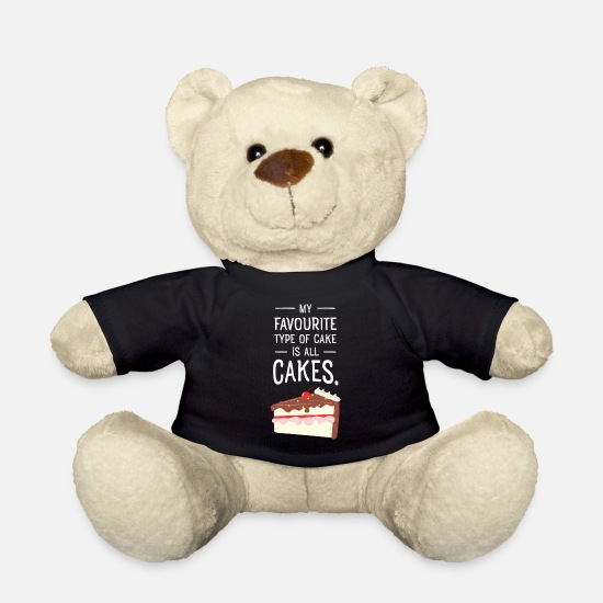 Cake Teddy Bear Toys - My Favourite Type Of Cake Is All Cakes - Teddy Bear black