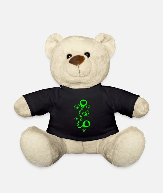 Heart Teddy Bear Toys - Peace symbol - Teddy Bear black