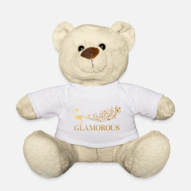 Glamour paon glamour - Ours en peluche
